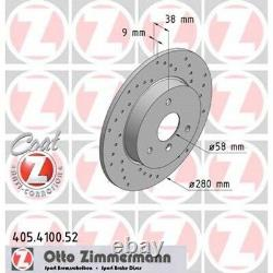 2 Zimmermann Front Sport Brake Discs For Smart Fortwo Cabriolet