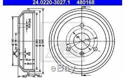 2x Ate Brake Drum Back Smart City-coupe Cabrio 24.0220-3027.1