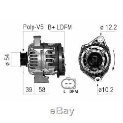 Alternator Smart Fortwo Convertible (450) 0.8 CDI (450 401, 450 402, 450 403) 30kw 4