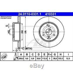 Ate 2x Brake Discs Full Covered 24.0110-0331.1