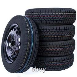 Complete Wheels 4 Seasons 1 Piece 175/55 R15 77h Nankang Alcar Sheet Metal Rim