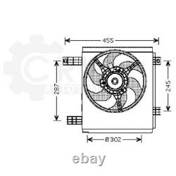 Cooling Fan Smart City Radiator Engine Fortwo Cabrio 450