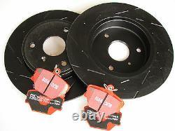 Ebc Black Tiret Sport Brake Discs + Redstuff Blister Smart Fortwo 450 452