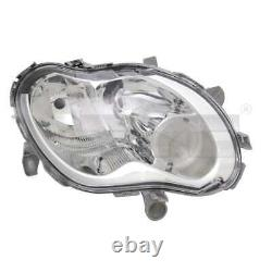 Front Headlight Set H1/h7 For Smart Fortwo Coupe 450 City Incl Cabriolet. Lamps
