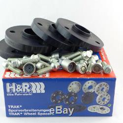 H & R Wheel Spacers Front + Rear 20mm Black For Smart Abe / If