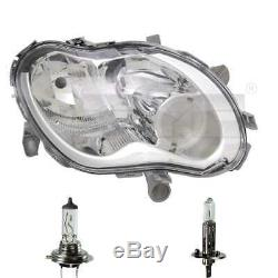 Lighthouse Right H1 / H7 For Smart Fortwo Coupe 450 City Cup Incl. Lamps