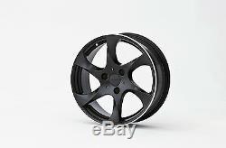 Lorinser Speedy Smart Fortwo 450 Black Black Mat Wheels Ensemble In Alluminium