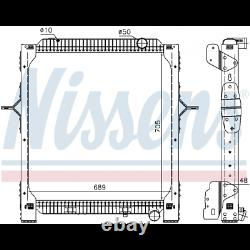 New Water Radiator Nissens 65476