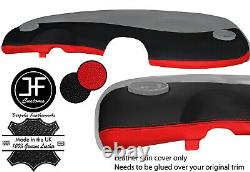 Red Black 2 Tono Edge Plank Leather Cover For Smart Fortwo 450 98-07
