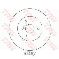 Trw Brake Discs 2x Full Black Painted Df4135