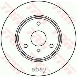 Trw Brake Discs 2x Full Black Painted Df4961