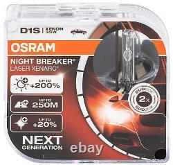 2X D1s Xenon Brûleur Lampe de Phare Osram Xenarc Lampes Nuit Breaker Las Al