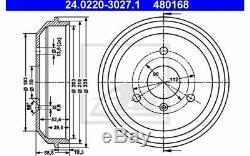 2x ATE Tambour de frein Arrière pour SMART CITY-COUPE CABRIO 24.0220-3027.1
