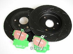 EBC Black Tiret Disques de Frein + Greenstuff Plaquettes Smart Fortwo 450 452