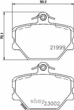 Kit Plaquettes De Frein MINTEX MDB2033 pour SMART 4514210010 A4514210010