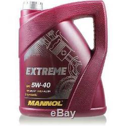 Mannol 5L Extreme 5W-40 Huile Moteur + Mann Smart City-Coupe 450 0.8 CDI
