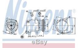 NISSENS Compresseur de climatisation 89163 pour Smart City-Coupé Cabrio