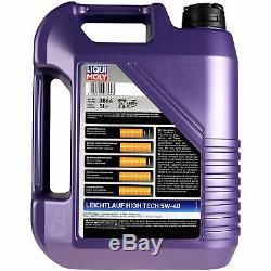 Révision Filtre Liqui Moly Huile 5L 5W-40 pour Smart Cabriolet 450 0.6 0.7