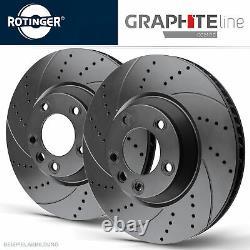 Rotinger Graphite Disques de Frein Sport Lot Essieu Avant Smart 450, 451, 452
