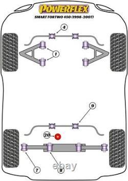 Set 4 Silentblock Powerflex Bras Avant Intelligent Fortwo 450 451 Roadster