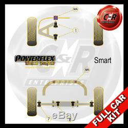 Smart Coupé (Inclus Brabus) (98-07) Powerflex Noir Complet Kit Palier